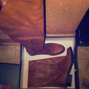 Tan Thigh Boots